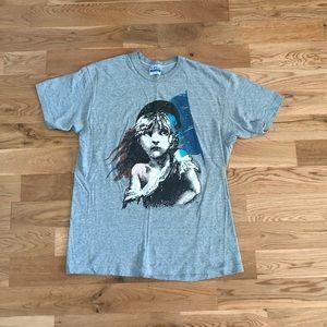 Vintage 80's 1986 Les Misérables Play Gray T-Shirt